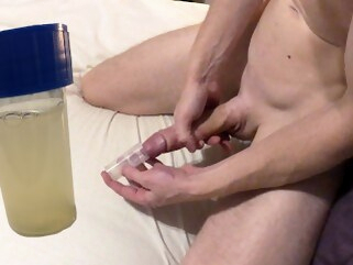 cock masturbate Collection cum in a cup....what to do with it next..? Johann Wood