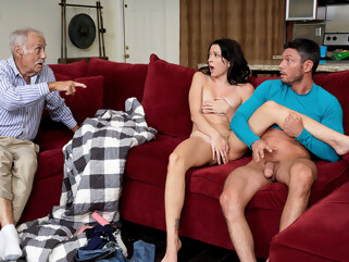 brunette big tits Riley Jean in Dont Wake Grandpa - MyFamilyPies