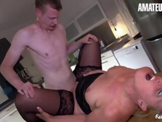 hardcore blowjob Naughty Horny Big Ass Mature Drilled From Behind