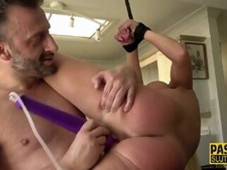 milf blonde Frisky Throated Milf Sub Tied up And Ballgagged