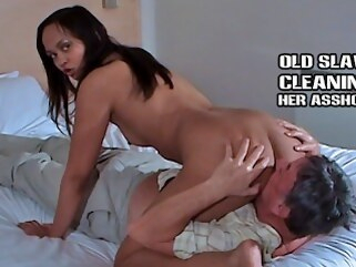 kink shesboss Older slave cleans feet pussy and asshole