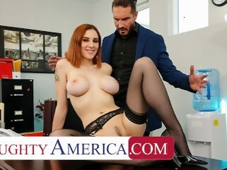 boobs naughtyoffice Naughty America - Lilian Stone drains her boss' balls to help relieve his stress