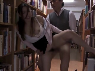 hd hairy Teacher Fucked At A School Library