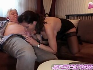 big tits brunette Kinky German Big Tits Mature Mom Seduced Old Man