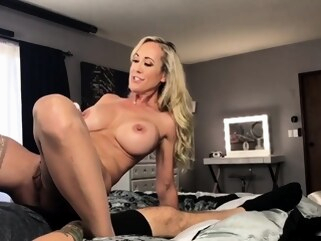 big boobs amateur Blonde MILF In Stockings Toying